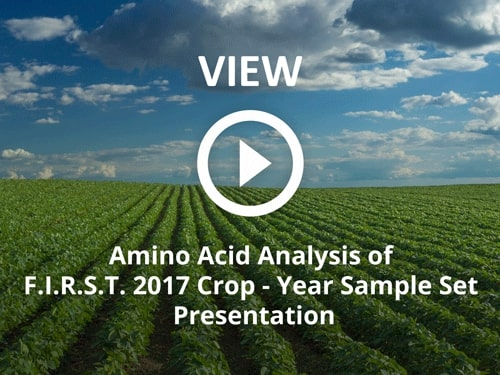 Amino Acid Analysis of F.I.R.S.T. 2017 Crop-Year Sample Set