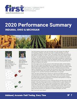 2020 Indiana, Michigan and Ohio Performance Summary