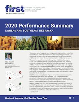 2020 Eastern Kansas and Southeast Nebraska Performance Summary