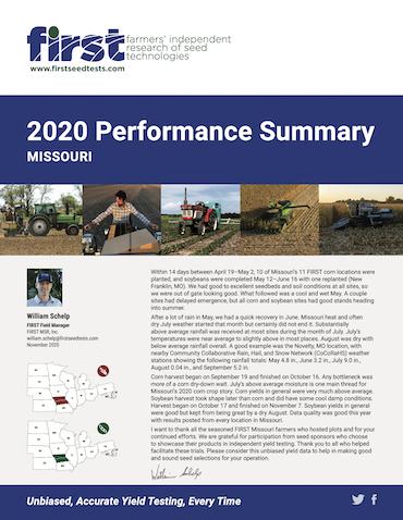 2020 Missouri Performance Summary