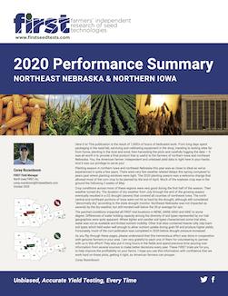 NE Nebraska and Northern Iowa Performance Summary